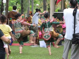 Girls Dancing at Traditional Thailand Festival